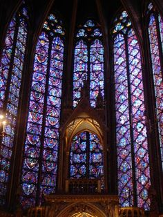 """Sainte-Chapelle is famous for its stunning stained glass.  We attended a memorable chamber music concert in this chapel in April 2006."" Paris, France photo of ""Amazing Stained Glass Chapel"" by IgoUgo travel photographer, tcguide."