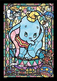 Arte Disney, Disney Magic, Disney Art, Dumbo Disney, Disney Stained Glass, Disney Puzzles, Cartoon Elephant, Modern Cross Stitch Patterns, Art Patterns