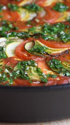 Ratatouille is a bounty of fresh vegetables roasted in a rich tomato sauce, delivering the most incredible side or main dish. Vegetarian Recipes Dinner, Dinner Recipes, Vegan Vegetarian, Vegetarian Main Dishes, Whole Food Recipes, Cooking Recipes, Healthy Recipes, Chili Recipes, Sin Gluten