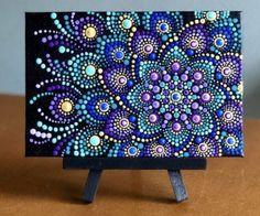 Jewel tones dot Mandala on canvas purple, turquoise , blue,. Best Picture For Mandala Painti Dot Art Painting, Mandala Painting, Stone Painting, Painting Canvas, Mandala Canvas, Mandala Rocks, Stone Art, Painting Inspiration, Painted Rocks