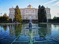 Royal Palace from the gardens of Sabatini, Madrid, Spain Palaces, Beautiful Buildings, Beautiful Places, Oh The Places You'll Go, Places To Visit, Foto Madrid, Real Madrid, Spain Madrid, Spain And Portugal