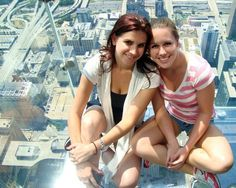 Willis Tower, Chicago, Illinois — by RebeccasRoutes. In the top of Willis Tower is the Skydeck - 103 stories, 1,353 feet high. Glass cubes protrude from the building, and...