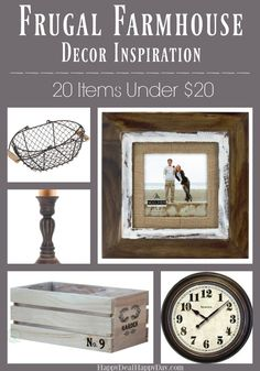 20 Frugal Farmhouse Decor Items for Under $20! Looking to spruce things up like Joanna Gaines, but on a budget? Check out this awesome frugal farmhouse decor list!