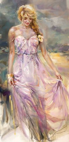 "Romantic fine art at Art Leaders Gallery: ""What Lies Ahead"" by Russian artist Anna Razumovskaya. Discover more affordable fine art, sculptures, hand blown glass, art gifts, and custom framing. artleaders.com 
