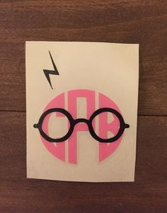 Harry Potter inspired monogram vinyl decal, eyeglasses, scar, lightning bolt, yeti decal, laptop decal, macbook decal, car decal, tumbler de by EastKyCreations on Etsy https://www.etsy.com/listing/489122432/harry-potter-inspired-monogram-vinyl
