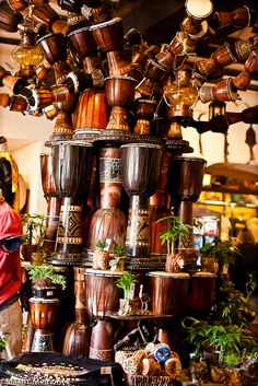 Mombasa Marketplace in Africa at Disney Animal Kingdom - Djembe drums, how awesome!