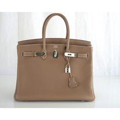 Hermès Etoupe Clemence 35cm Birkin Bag# porteropintowin