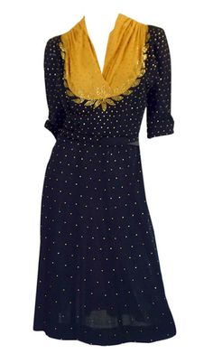 Another vintage dress that I would gladly don today: Dress  1940s Shrimpton Couture