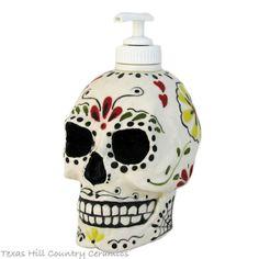 Day of the Dead Sugar Skull Pump Dispenser for Soap or Lotion Dia de los Muertos Celebrations Mexican Folk Art Design