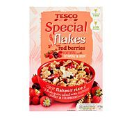 Rice and wholegrain wheat cereal flakes fortified with vitamins and iron, with freeze dried raspberry, cherry and strawberry pieces. Crisp flakes of rice and wholegrain wheat with raspberry, cherry and strawberry pieces. Cereal Flakes, Crisp Bread, Raspberry, Strawberry, Freeze Dried Raspberries, Mosaic Crosses, Cross Paintings, Red Berries, Muesli