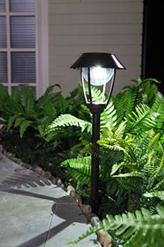 Grand Patio Bright Solar Path Lights Curvy Style Aluminum Garden Lights  WeatherResistant Outdoor Solar Lights For