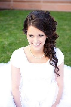 Another wedding hair idea - worn to one side