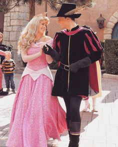 Princess Aurora and Prince Phillip!