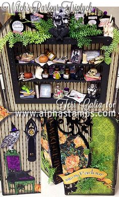 Alpha Stamps News » Witch's Parlour Triptych by Teri Calia