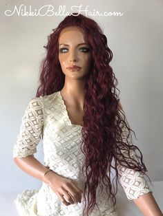 Evanescence Human Hair Blend Multi Parting lace front wig 26' e1043 Nikki Bella Hair www.NikkiBellaHair.com- Nikki Bella Hair www.NikkiBellaHair.com