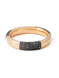 Pomellato 18K Pink Gold Tango Bracelet with Brown Diamonds. Pink Gold Bangle with Three Sections of Brown Diamonds. Total Diamond Weight is 6.17ctw. Available at London Jewelers!