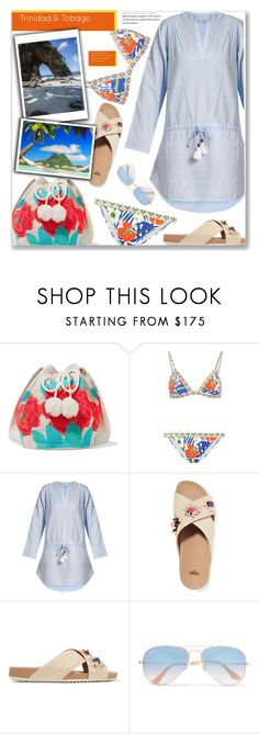 """""""Trinidad and Tobago Travel Outfits"""" by joliedy ❤ liked on Polyvore featuring Sophie Anderson, Etro, Heidi Klein, Fendi and Ray-Ban"""