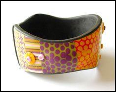 2 days work on this piece. Polymer Clay Bracelet, Day Work, Bracelets, Accessories, Colors, Jewelry, Jewlery, Jewerly, Schmuck