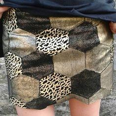 Treasure in my wardrobe :) #blackandgold #vintage #leather #skirt #secondhandjunkie