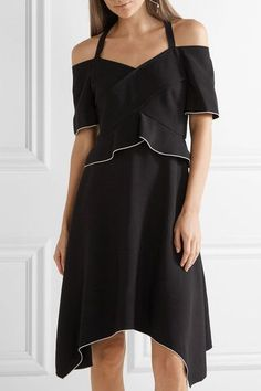 Proenza Schouler - Cold-shoulder Crepe Dress - Black - US10