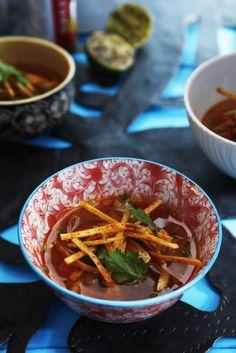 Crunchy Yardbird Soup is Marcus Samuelsson's international spin on chicken tortilla soup.
