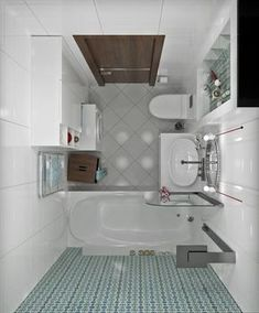 31 Ideas bath room design plan tiny house for 2019 Small Bathroom Layout, Modern Small Bathrooms, White Bathroom Tiles, Tiny Bathrooms, Tiny House Bathroom, Laundry In Bathroom, Master Bathrooms, Shower Bathroom, Small Bathroom Designs