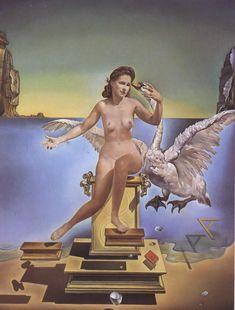 Salvador Dali, art, painting, surrealism, 1940s, 1949, Leda Atomica