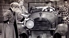 """Getting Ready - Lucille Ball - Fred buys a hilarious """"used car"""" for the upcoming trip to Hollywood http://lucille-ball.info/getting-ready/"""