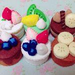 【送料込み♡受注製作】フェルト おままごと ケーキAセット