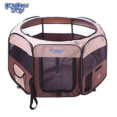Outdoor Dog Pens - 35 Dog Octagon Playpen Dog Popup Tent Playpen with Detachable Mesh Cover Exercise Pen Kennel with 600d Oxford Cloth ToolFree Setup Carry Bag Removable Security Mesh Cover Shade 2 Storage Pockets ** To view further for this item, visit the image link. (This is an Amazon affiliate link)