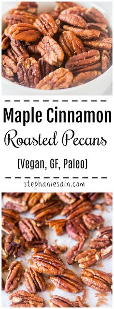 Maple Cinnamon Roasted Pecans Vegan GF 038 Paleo Maple Cinnamon Roasted Pecans Vegan GF 038 Paleo Pam Greer pamgreer Snack and Appetizer Recipes These Maple Cinnamon Roasted Pecans nbsp hellip candy aesthetic Cinnamon Roasted Pecans, Glazed Pecans, Roasted Walnuts, Spiced Pecans, Cinnamon Sugar Pecans, Cinnamon Candy, Candied Pecans, Pecan Recipes, Snack Recipes