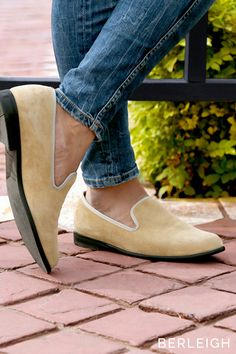 c853a03914c Duke   Dexter light tan suede loafers  These magnificent Venetian style  mid-heel edgy
