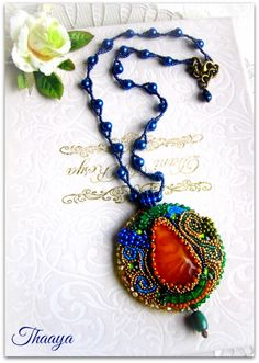 Thaay ... Beaded embroidery necklace by dwear.rooms