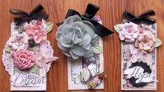 Wish, Hope, Dream tags - Scrapbook.com