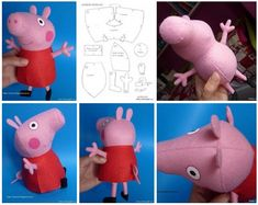Billedresultat for molde peppa pig Peluche Peppa Pig, Molde Peppa Pig, Peppa Pig Doll, Peppa Pig Soft Toy, Peppa Big, Peppa Pig Family, Pet Pigs, Plush Pattern, Fabric Toys