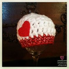 Crochet Baby Hat With Heart by peacelovecreations on Etsy, $13.00