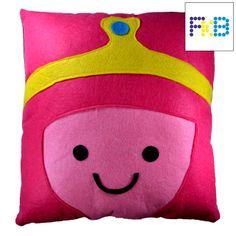 Handmade Bubblegum princess pillow #frikibeads #pillow #cojin #almohada #bubblegumprincess #princesachicle #horadeaventuras #adventuretime