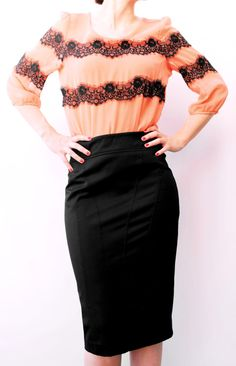 Black tight skirt. Skirt stylish for any special by ANNEOLA