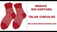MEDIAS SIN COSTURA TELAR CIRCULAR // Tutorial Calcetines sin costura Telar