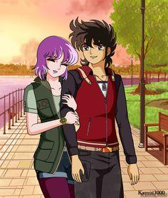 Seiya y Saori - Siempre a tu lado v2 (LoS) by kamui3000 on DeviantArt