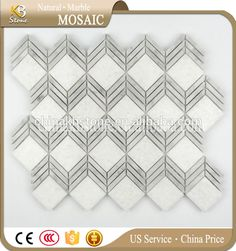 New pattern white square mosaic tile mixed slab edge floor tile wall tile Mosaic Tiles, Wall Tiles, Tile Floor, Flooring, Pattern, Stuff To Buy, Mosaic Pieces, Room Tiles, Patterns