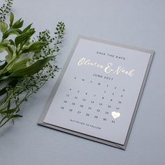 Foiled Calendar Save The Date Wedding Stationery Wedding Invites Save The Dates Invitations Wedding Stationery Gold Rose Gold Marie's Wedding, Wedding Bridesmaids, Wedding Cards, Rustic Wedding, Dream Wedding, Wedding Venues, Wedding Rings, Silver Save The Dates, Foil Save The Dates