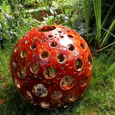 Ceramiczna kula ogrodowa * Wylepianki * Ceramic garden sphere