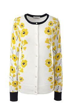 Women's Supima Print Cardigan Sweater
