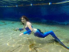 Mermaid Celeste at Rainbow Springs. Tail, top, and bracers by MerNation.