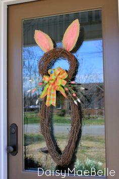 Easter Bunny Wreath @ DaisyMaeBelle