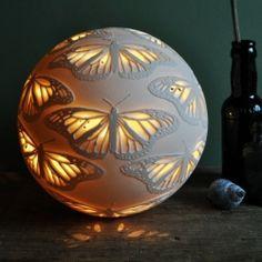 Monarchs Porcelain Lamp Amy Cooper Ceramics