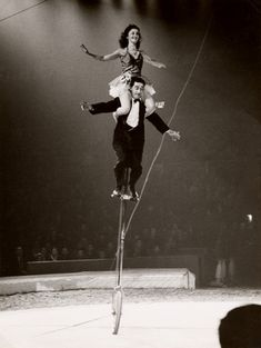 The Two Arvings' Unicycle Act in Bertram Mills' Circus