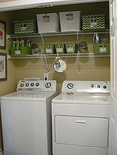 Have a laundry closet instead of a laundry room? Check out the before and afters & ideas for maximizing your space. Via Eat. Sleep. Decorate.
