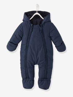 851e9adfbb9ba Combi-pilote bébé motif imprimé ouverture totale double zip - bleu encre